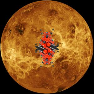 Sharing: Ein Foto der Venus kombiniert mit verschränkten Fahrzeugen