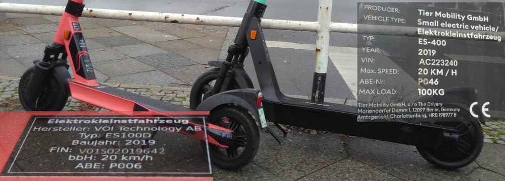 Connected Mobility: E-Scooter - Voi und Tier vor Schloß Bellevue___Bildteil 02