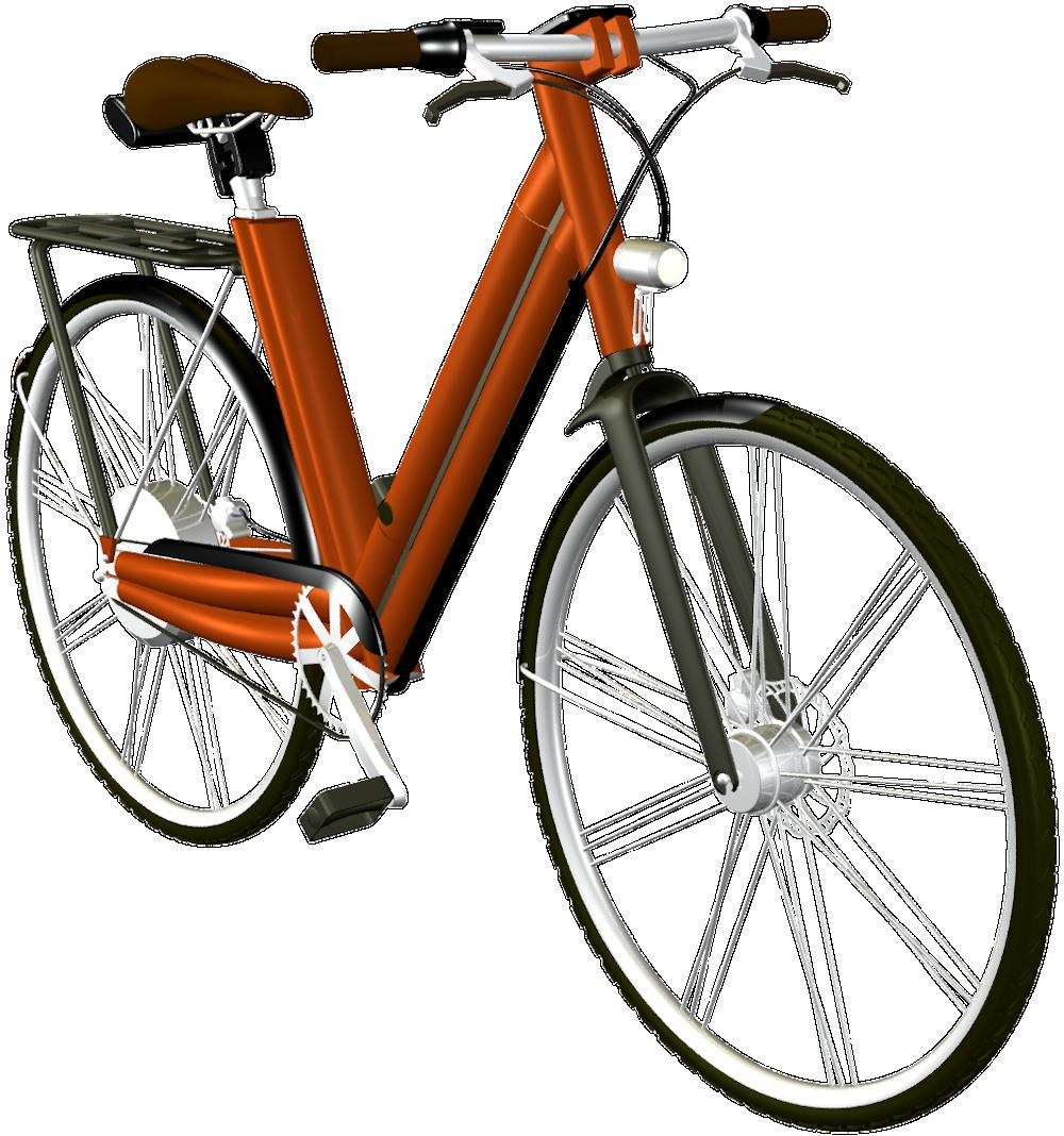 E-Bike: Konzeption eines orangenen Damenpedelecs, by Kerjo, form:f - industrial design