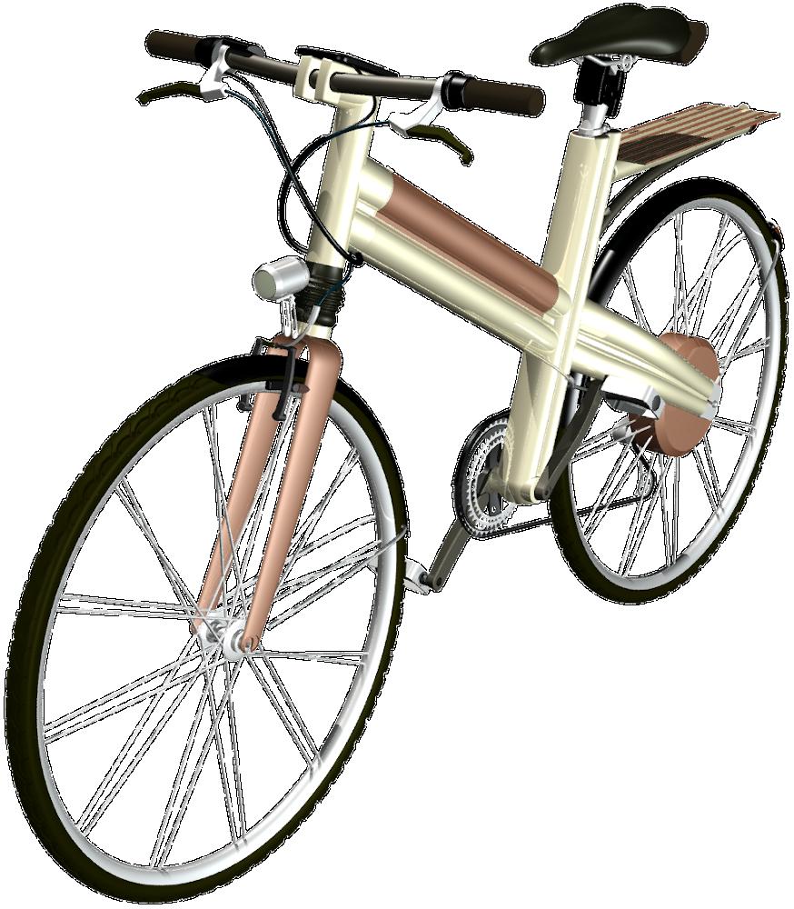 E-Bike: Konzeption eines gold-kupfernen Unisexpedelecs, by Kerjo // form:f - industrial design