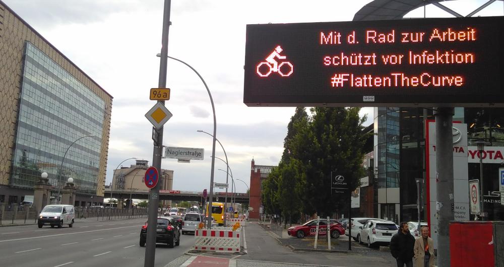 Corona-Lockerungen: Fahrt noch mehr Fahrrad! #FlattentheCurve // by yuyun, form:f - critical design