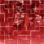 Verdrängt: rotes Foto bearbeitet Kacheleffekt