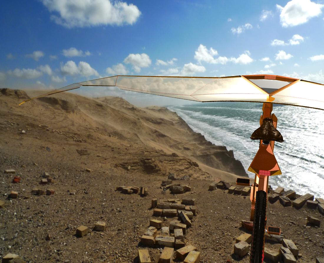 Beamen: Urlaubsfotos kollagiert mit 3D-Artwork