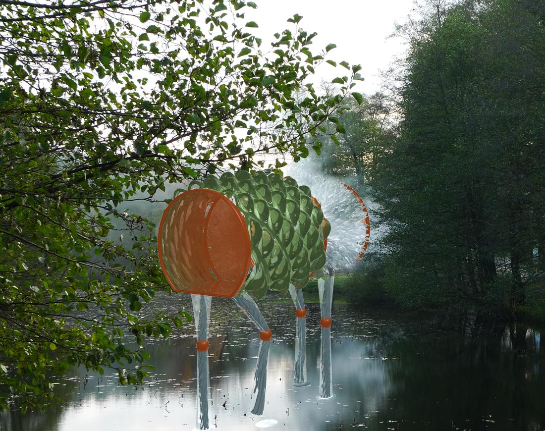 Beamen: Krankentransporte 2213 // Artwork by yuyun: Collage: Foto + 3D-Artwork